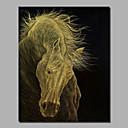 povoljno Apstraktno slikarstvo-Hang oslikana uljanim bojama Ručno oslikana - Pejzaž Comtemporary Moderna Uključi Unutarnji okvir