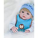 halpa Reborn Dolls-FeelWind Reborn Dolls Poikavauvat 22 inch Koko kehon silikoni Silikoni Vinyyli - elävä Käsintehty Sievä Lapsiturvallinen Lapset / nuoret Non Toxic Lasten Unisex Lelut Lahja
