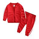 tanie Zestawy ubrań dla Chłopięce niemowląt-Dziecko Dla chłopców Casual / Podstawowy Codzienny / Sport Solidne kolory Długi rękaw Regularny Regularny Bawełna Komplet odzieży Rumiany róż / Brzdąc