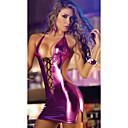 cheap Panties-Women's Sexy Teddy Nightwear - Backless / Lace up, Party Evening Solid Colored Black Fuchsia One-Size / Halter Neck