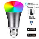 billige Smartlamper-e27 ledet smart wifi pærer 22 ledede perler smd 5730 jobber med Amazon Alexa / App Control / google hjemme rgbw 85-265v