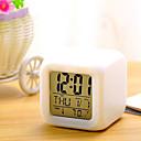 זול שעונים מעוררים-7 צבעים הובילו שינוי שעון מעורר דיגיטלי שעון מדחום בלילה זוהר קוביית שעון LCD