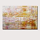 abordables Peintures Abstraites-Peinture à l'huile Hang-peint Peint à la main - Abstrait Paysage Contemporain Moderne Inclure cadre intérieur