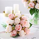 זול פרחים מלאכותיים-פרחים מלאכותיים 1 ענף קלאסי חתונה פרחי חתונה ורדים פרחים לשולחן