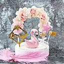 abordables Parasoles de Boda-Decoración de Pasteles Tema Clásico / Vacaciones / Boda Artístico / Retro / Diseño Único Papel Puro Boda / Cumpleaños con Flor 1 pcs OPP