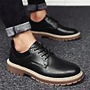 halpa Miesten Oxford-kengät-Miesten Comfort-kengät PU Syksy Oxford-kengät Musta / Harmaa / Ruskea