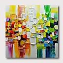 povoljno Apstraktno slikarstvo-Hang oslikana uljanim bojama Ručno oslikana - Sažetak Comtemporary Moderna Uključi Unutarnji okvir