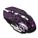 abordables Cartes Mémoire-LITBest JXC-XX8 Sans fil 2.4G Optique Gaming Mouse Eclairage LED 2400 dpi 3 niveaux de DPI réglables 6 pcs Clés 2 touches programmables