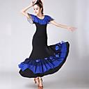 Χαμηλού Κόστους Ρούχα για χοροεσπερίδα-Επίσημος Χορός Σύνολα Γυναικεία Εκπαίδευση / Επίδοση Πολυεστέρας / Spandex Πλισέ / Σε επίπεδα Κοντομάνικο Φυσικό Φούστες / Κορυφή