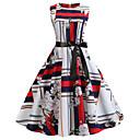 povoljno Stare svjetske nošnje-Žene A kroj Haljina Color block Iznad koljena / Sexy
