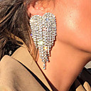 preiswerte Ohrringe-Damen Tropfen-Ohrringe Diamantimitate Ohrringe Herz Stilvoll Schmuck Gold / Silber Für Hochzeit Verlobung 1 Paar