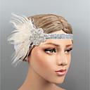 hesapli Parti Başlıkları-Tüyler Headbands / Başlık ile Kristal / Tüy 1 parça Düğün / Parti / Gece Başlık