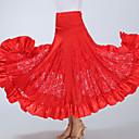 preiswerte Tanzkleidung für Balltänze-Für den Ballsaal Unten Damen Training / Leistung Polyester Spitze / Horizontal gerüscht Hoch Röcke