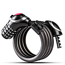 cheap Bike Frame Bags-Wheel up Bike Cable Lock Portable Wearproof Security Self Coiling Resettable Combination For Road Bike Mountain Bike MTB Cycling Bicycle Metal Black