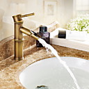 cheap Shower Faucets-Bathroom Sink Faucet - Widespread Electroplated / Nickel Polished Other Single Handle One HoleBath Taps
