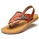 זול סנדלים לגברים-בגדי ריקוד גברים נעלי נוחות סינטטיים קיץ יום יומי סנדלים חום / חרוזים