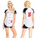 halpa Plafondit-univormut Cheerleader Kantri Lukio Naisten Asut Käyttötarkoitus Suoritus Polyesteria Raita Karnevaali Masquerade Housut T-paita