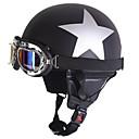 halpa Kuntoiluvälineet ja -tarvikkeet-Puolikypärä Aikuiset Unisex Moottoripyörä Helmet UV suoja / Anti-Wind / Anti-Dust