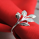 cheap Napkin Ring-Classic Metal Round Napkin Ring Solid Colored Flower Table Decorations 12 pcs