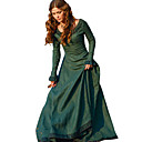 cheap Sexy Uniforms-Retro / Vintage Medieval Costume Women's Dress Red / Green / Blue Vintage Cosplay Polyster Tea Party Festival Long Sleeve Long Length A-Line