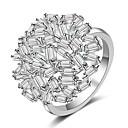 billige Motering-Dame Åpne Ring / Micro Pave Ring Kubisk Zirkonium 1pc Sølv Kobber Bryllup Kostyme smykker
