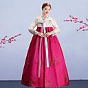 abordables Disfraces Históricos y Vintage-Chica Hanbok Adulto Mujer Asiático Coreano tradicional Jeogori Hanbok Magoja Para Rendimiento Fiesta de Pedida de Mano Despedida de Soltera Algodón Longitud Larga Falda