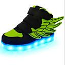 halpa Lasten sandaalit-Tyttöjen PU Lenkkitossut Taapero (9m-4ys) / Pikkulapset (4-7 vuotta) / Suuret lapset (7 vuotta +) Välkkyvät kengät Tarranauhalla / LED Sininen / Pinkki / Musta / Vihreä Kevät / Kumi