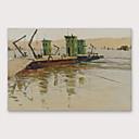 halpa Abstraktit maalaukset-Hang-Painted öljymaalaus Maalattu - Kukkakuvio / Kasvitiede Moderni Sisällytä Inner Frame