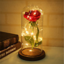 levne osvětlení Příslušenství-1pc krása a růže růže růže a vedl světlo s padlých lístků ve skleněné kopuli na dřevěném základu dárek pro ni - svátek narozenin strana svatba \ t