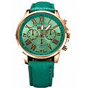 זול תיקי אלכסון-בגדי ריקוד נשים שעוני ספורט שעוני שמלה שעון יד קווארץ עור שחור / לבן / כחול שעונים יום יומיים אנלוגי יום יומי אופנתי - חום כחול ירוק כהה שנה אחת חיי סוללה / מתכת אל חלד