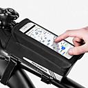 abordables Bolsas para Cuadro de Bici-ROCKBROS Bolso del teléfono celular Bolsa para Cuadro de Bici 6.2 pulgada Pantalla táctil Bandas Reflectantes Ciclismo para Ciclismo Negro Ejercicio al Aire Libre Ciclismo / Bicicleta Bicicleta