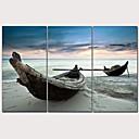 halpa Plafondit-Painettu Pingoitetut kanvasprintit - Klassinen teema Laiva Moderni 3 paneeli Art Prints