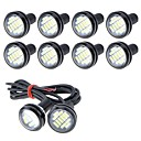 זול תאורת אופנוע-10pcs חיבור חוט אופנוע / מכונית נורות תאורה 5 W SMD 4014 250 lm 12 LED אורות ערפל / אורות יום / תאורה ללוחית הרישוי עבור אוניברסלי