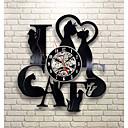 levne Nástěnné hodiny-Miluji kočka záznam nástěnné hodiny retro led vinyl hodiny