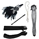 cheap Historical & Vintage Costumes-Feathers Headbands / Headdress / Headpiece with Rhinestone / Crystal / Feather 5 PCS Party / Evening / Masquerade Headpiece