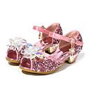 זול עקבים קטנים עבור בני נוער-בנות נעליים לילדת הפרחים סינטטיים עקבים פעוט (9m-4ys) / ילדים קטנים (4-7) / ילדים גדולים (7 שנים +) קריסטל כסף / כחול / ורוד קיץ / בוהן מציצה / גומי