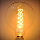 preiswerte Glühlampen-1pc 40 W E26 / E27 G125 Gelb Transparent Körper Glühbirne Vintage Edison Glühbirne 220-240 V