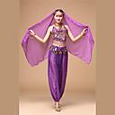 halpa Lattarikengät-Intialainen tyttö bollywood Aikuisten Naisten Aasialainen Paljetti churidar Salwar Suit saree Käyttötarkoitus Suoritus Festivaali Paljetti Polyesteria Toppi Housut Päähine