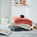 billige Tæpper ogplaider-Seng tæpper / Sofa kaste / Multifunktionelle tæpper, Ensfarvet Bomuld Blød comfy Ekstra blødt dyner