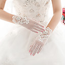 cheap Party Gloves-Lace Wrist Length Glove Lace With Embroidery
