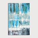 hesapli Soyut Resimler-Hang-Boyalı Yağlıboya Resim El-Boyalı - Soyut Modern Iç çerçeve dahil / Gerilmiş kanvas