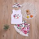 رخيصةأون مجموعات ملابس البيبي-مجموعة ملابس بدون كم طباعة للفتيات طفل