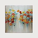 halpa Abstraktit maalaukset-Hang-Painted öljymaalaus Maalattu - Abstrakti Kukkakuvio / Kasvitiede Moderni Sisällytä Inner Frame