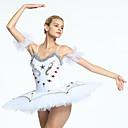 preiswerte Ballettbekleidung-Ballett Balletröckchen und Röcke Damen Training / Leistung Organza / Tüll Kristalle / Strass Ärmellos Kleid