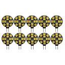 preiswerte LED Doppelsteckerlichter-10 Stück 3 W LED Doppel-Pin Leuchten 180 lm G4 T 12 LED-Perlen SMD 5050 bezaubernd Warmes Weiß Kühles Weiß 12 V