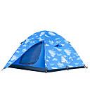 رخيصةأون مفارش و خيم و كانوبي-Sheng yuan 3 شخص خيمة للشاطئ خيمة التخييم العائلية في الهواء الطلق ضد الهواء التنفس إمكانية طبقات مزدوجة قطب الماسورة خيمة التخييم 2000-3000 mm إلى شاطئ Camping / Hiking / Caving السفر قماش اكسفورد