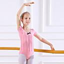 billige Dansetøj til børn-Dansetøj til børn / Ballet Trikoter Pige Træning / Ydeevne Bomuld Sløjfe(r) Kortærmet Naturlig Trikot / Heldragtskostumer