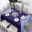 זול כיסויי שולחן-עתיקה קלסי כותנה סיבי פוליאסטר ריבוע Cube כיסויי שולחן מפות שולחן פרחוני מעוטר מדפיס ידידותי לסביבה עמיד במים פרח לוח קישוטים