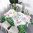 זול כיסויי שולחן-עכשווי יום יומי כותנה סיבי פוליאסטר ריבוע Cube כיסויי שולחן מפות שולחן מעוטר דמות מצוירת בתלת מימד מדפיס ידידותי לסביבה עמיד במים פרח לוח קישוטים