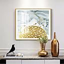Недорогие Картины в рамах-обрамленный холст обрамленная картина маслом аннотация водный& Морской пластик масляной живописи стены искусства